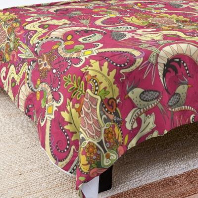 boho rococo pink redbubble comforter bed sharon turner