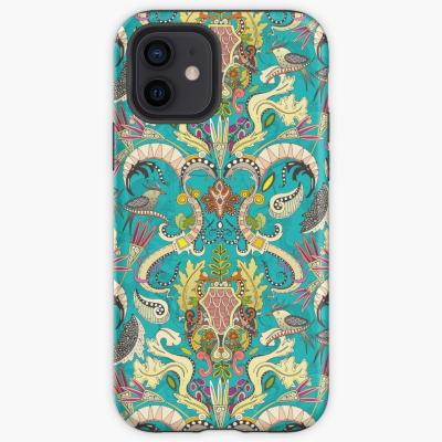 boho rococo turquoise redbubble iphone tough case sharon turner