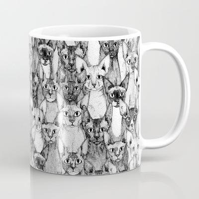 just sphynx cats society6 mug sharon turner