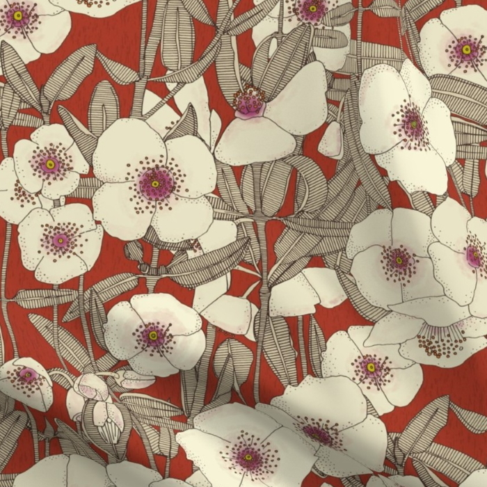 pink clous earth red spoonflower sharon turner