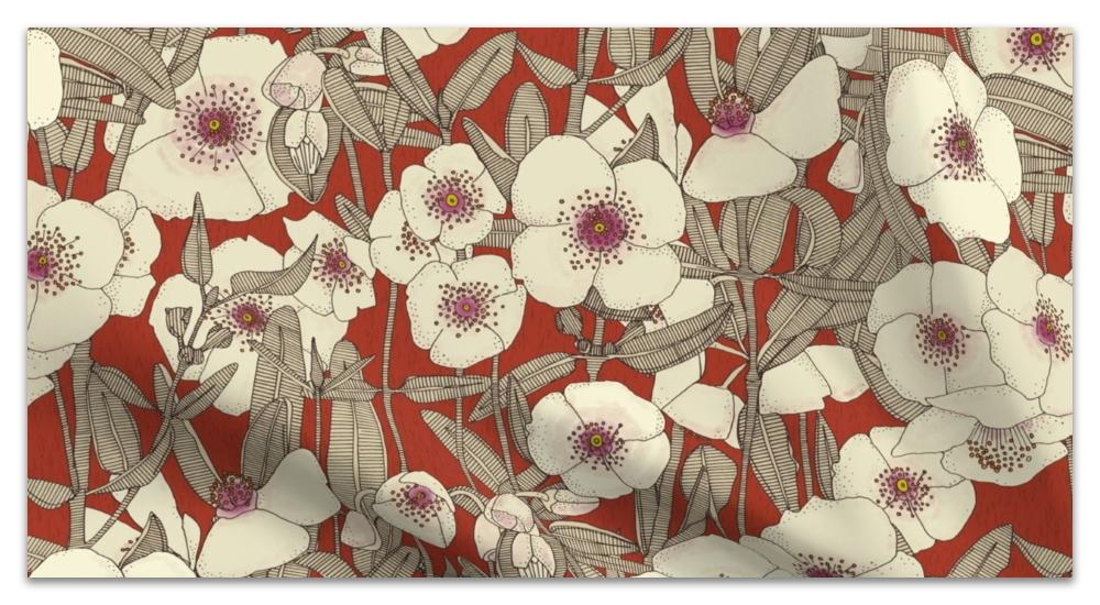 pink cloud earth red spoonflower sharon turner