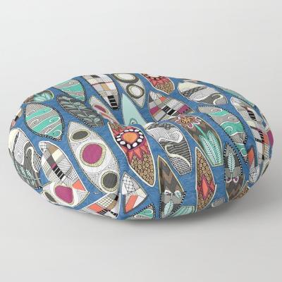 surfboards blue society6 floor pillow cushion sharon turner