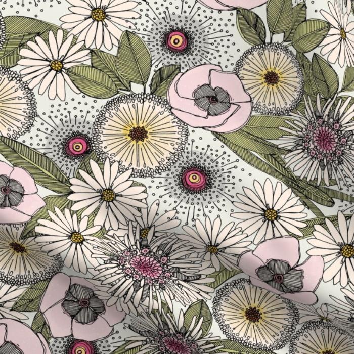 Australian garden chalk spoonflower sharon turner scrummy