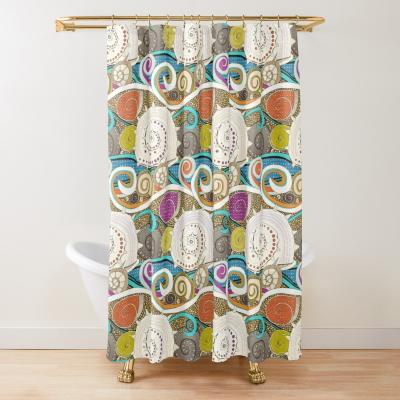 seashells pop redbubble shower curtain sharon turner