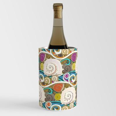 seashells pop society6 wine chiller sharon turner