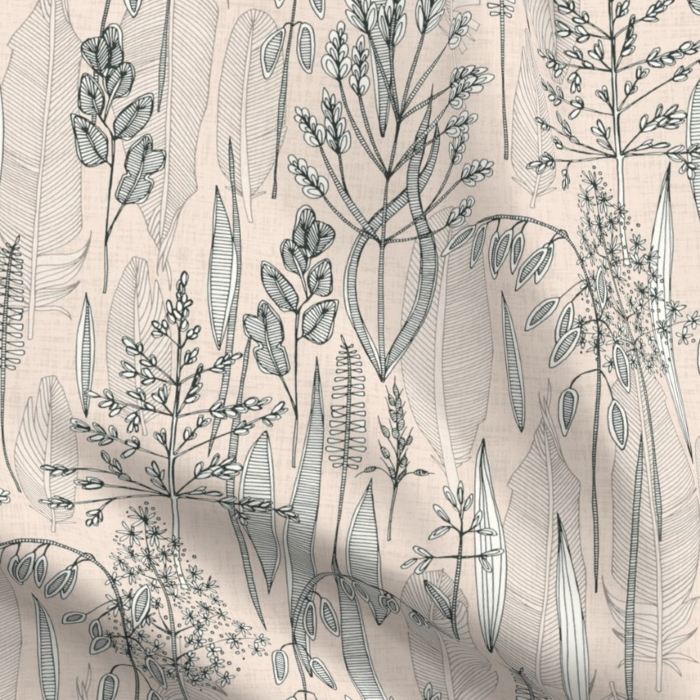 meadow feathers spoonflower sharon turner
