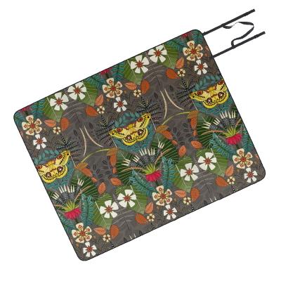 tropical moth paradise sandalwood society6 picnic blanket sharon turner