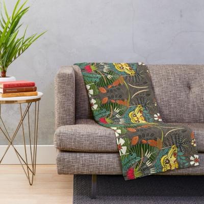 tropical moth paradise sandalwood redbubble throw pillow sharon turner