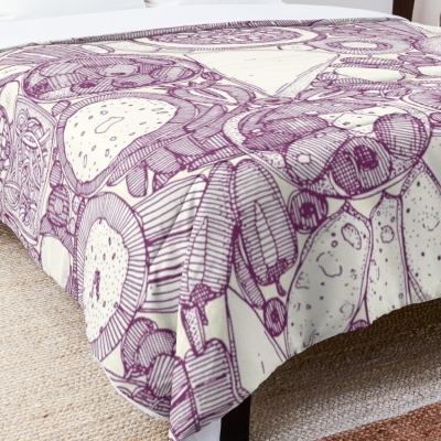 vegetarian party platter purple redbubble bed comforter sharon turner
