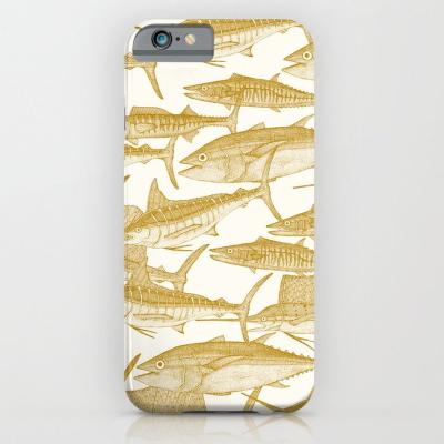 Atlantic fish gold society6 iPhone case sharon turner