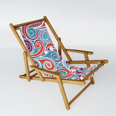 water joy fish blue society6 sling chair sharon turner