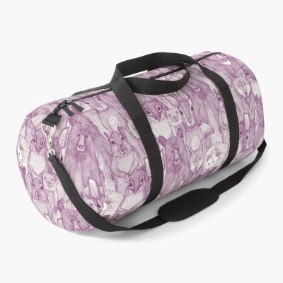 North Carolina mammals purple redbubble duffle bag sharon turner