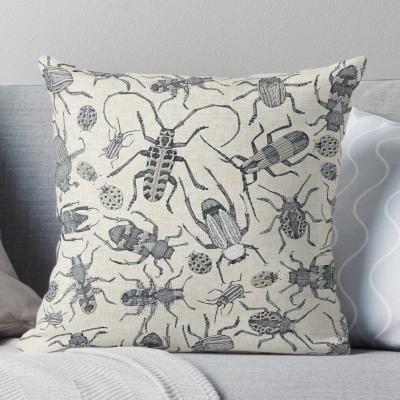 beetles retro neutral redbubble throw pillow cushion sharon turner