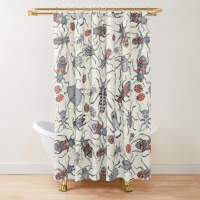 beetles retro redbubble shower curtain sharon turner
