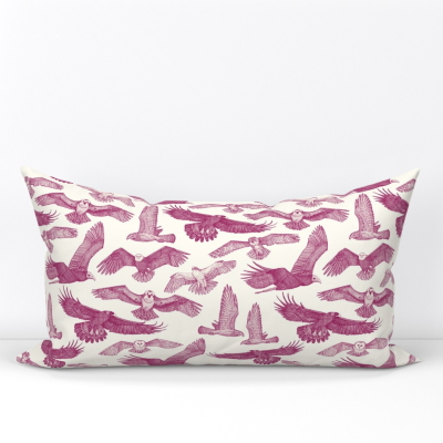 birds of prey cherry small spoonflower lumbar pillow sharon turner scrummy