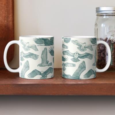 birds of prey jade redbubble coffee mug sharon turner