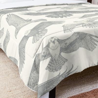 birds of prey silver redbubble bed comforter sharon turner