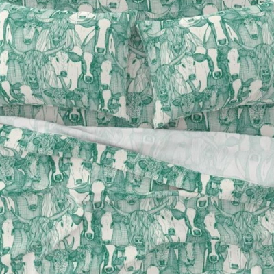 just cattle emerald green half pearl large sheet set sharon turner scrummy spoonflower