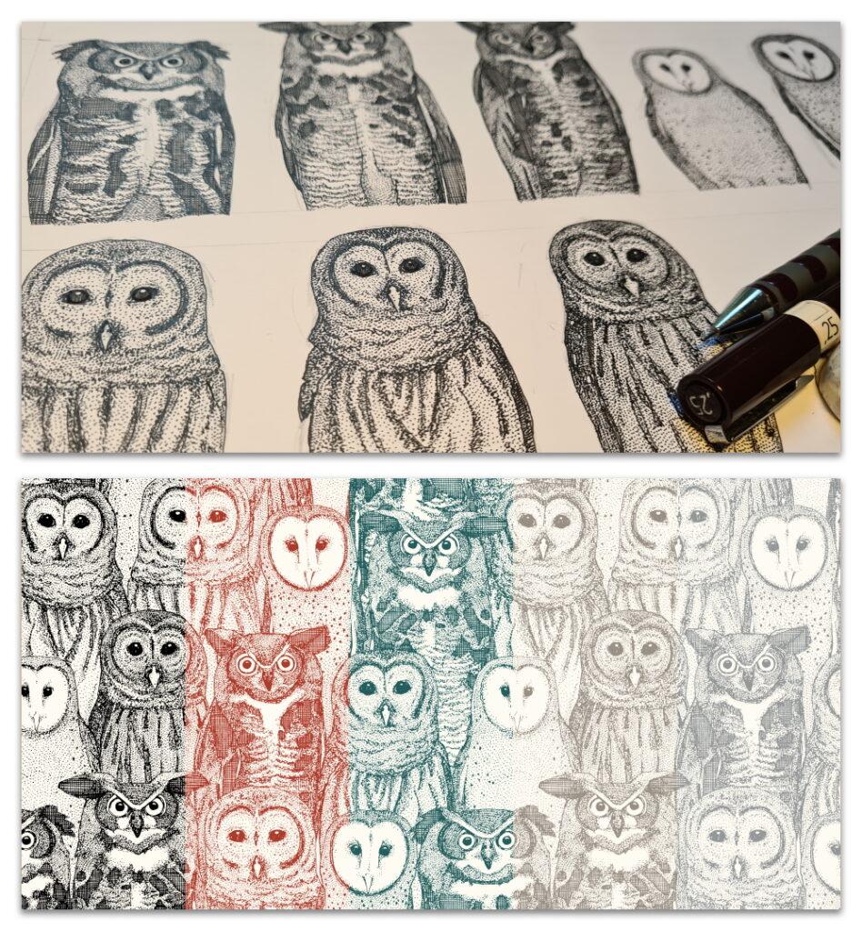 owls NC WIP and design crops sharon turner scrummy bandwidth
