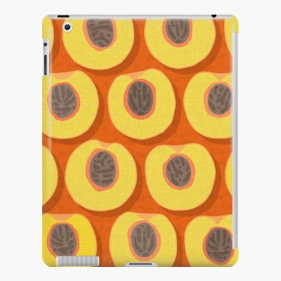 peach polka orange redbubble iPad snap case sharon turner
