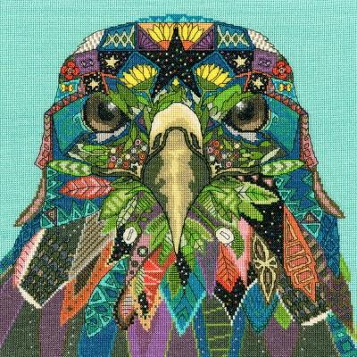 Jewelled Eagle Bothy Threads Sharon Turner cross stitch kit