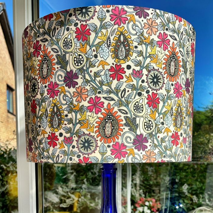 Mel's lampshade zafer cream small spoonflower scrummy