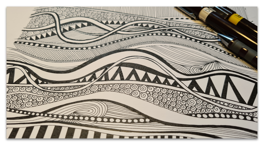 work in progress WIP illustration geo ocean sharon turner scrummy spoonflower