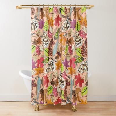 boho autumn apricot redbubble shower curtain sharon turner