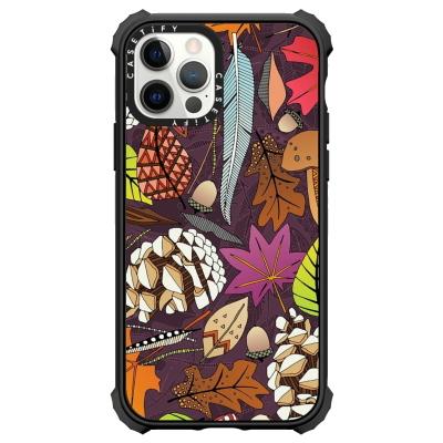 boho autumn cassis botanical casetify iphone case sharon turner