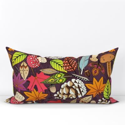 boho autumn cassis lumber pillow spoonflower sharon turner scrummy