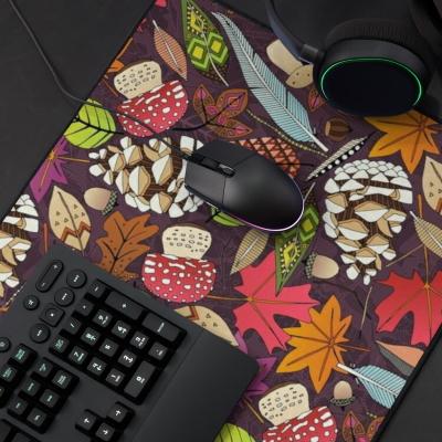 boho autumn cassis redbubble desk mat sharon turner