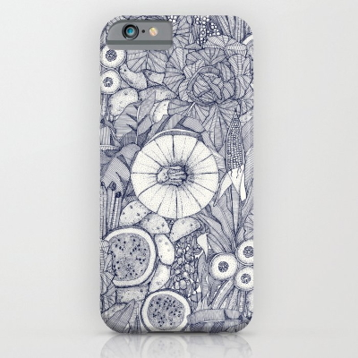 crops NC blue society6 iPhone case sharon turner