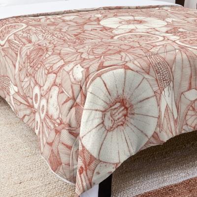 crops NC paprika redbubble bed comforter sharon turner