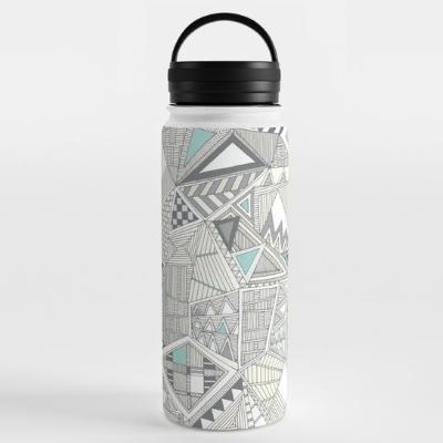 crystal geo water bottle society6 sharon turner