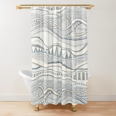 geo ocean redbubble shower curtain sharon turner