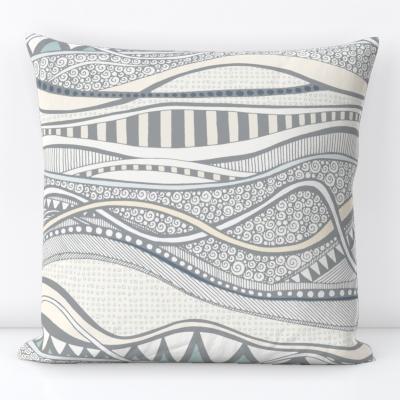 geo ocean spoonflower throw pillow cushion sharon turner scrummy