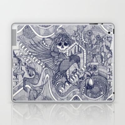 phantasmagoria blue laptop skin sharon turner society6