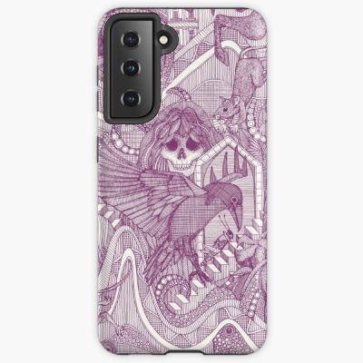 phantasmagoria purple redbubble samsung galaxy case and skins sharon turner