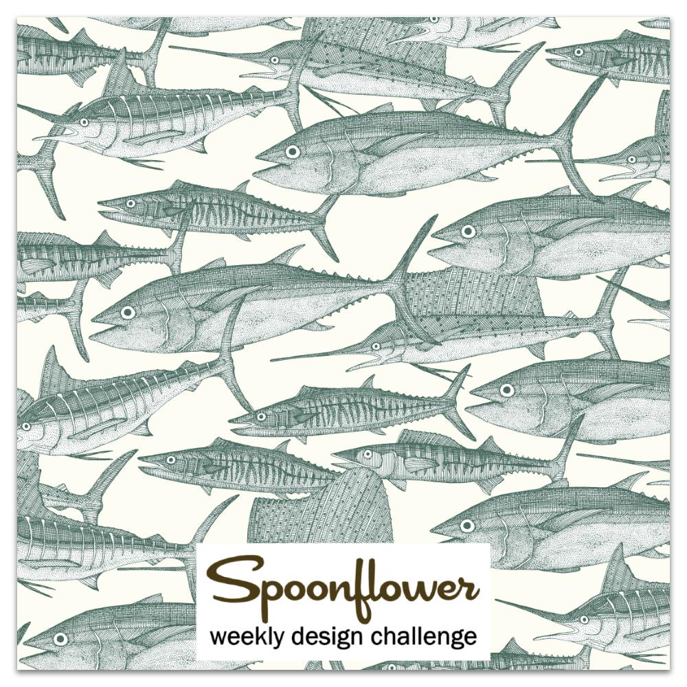 Petal Solida CALM design challenge link spoonflower sharon turner Atlantic fish pine