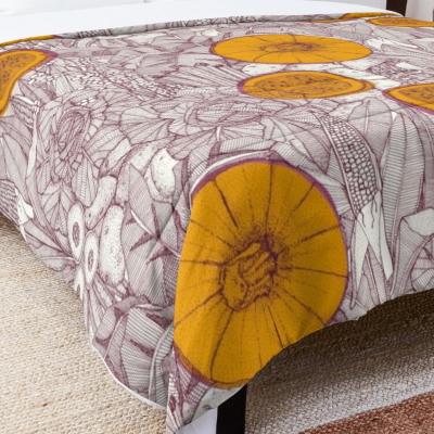 crops NC wine marigold peony redbubble bed comforter sharon turner