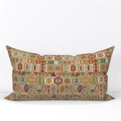 kilim fall small lumbar pillow sharon turner spoonflower scrummy