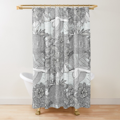 marsh NC mono redbubble shower curtain sharon turner illustration